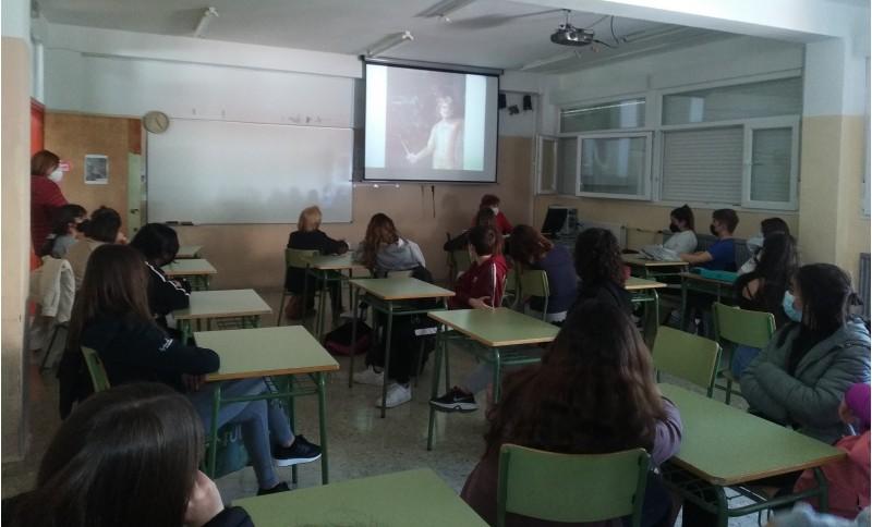 Moment de la xerrada de Barceló / IES Andreu Sempere