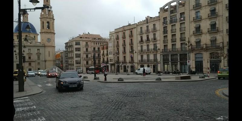 La plaça d'Espanya aquest 1 de març
