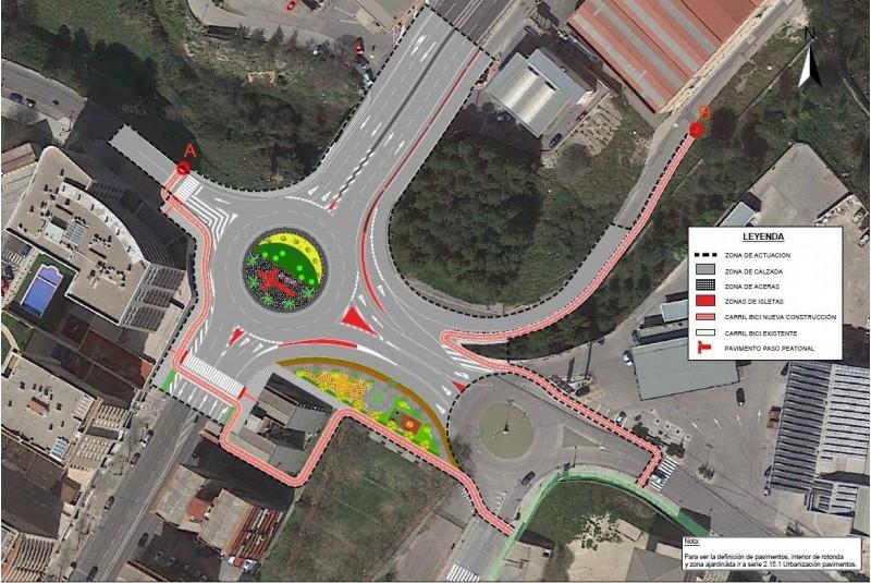 El projecte municipal per a la redona, que ara serà revisat i adaptat pel Ministeri de Foment abans de licitar les obres.