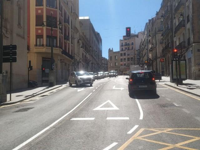 El carrer Santo Tomás, amb els canvis ha aplicats aquest 23 de març.