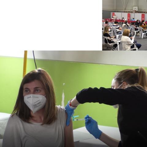Vacunació a Alcoi i Xàtiva / AM