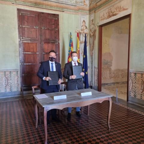 La Universitat Politècnica de València (UPV) i l'Ajuntament de L'Olleria firmen un conveni de col·laboració
