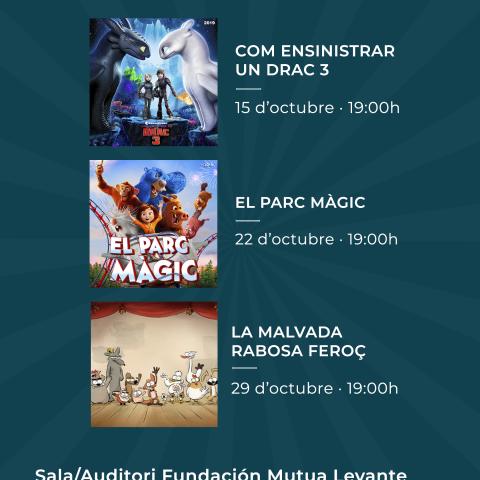 Cicle de cinema d'animació en valencià durant el mes d'octubre