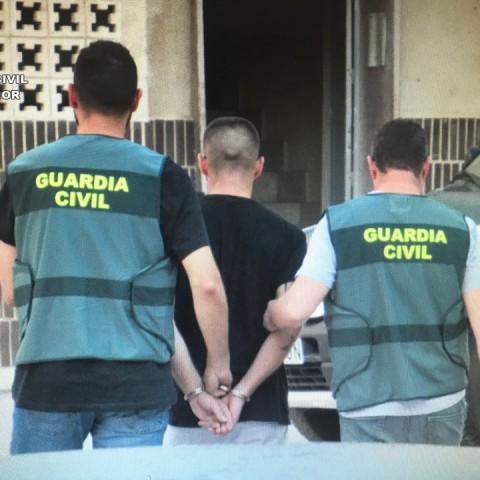 Un dels detinguts. Imatge de la Guàrdia Civil