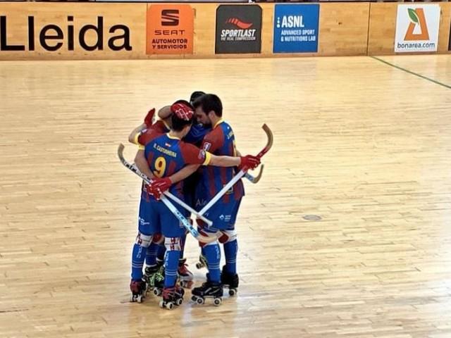 Celebració d'un dels gols de l'Alcòdiam / Twitter Lleida