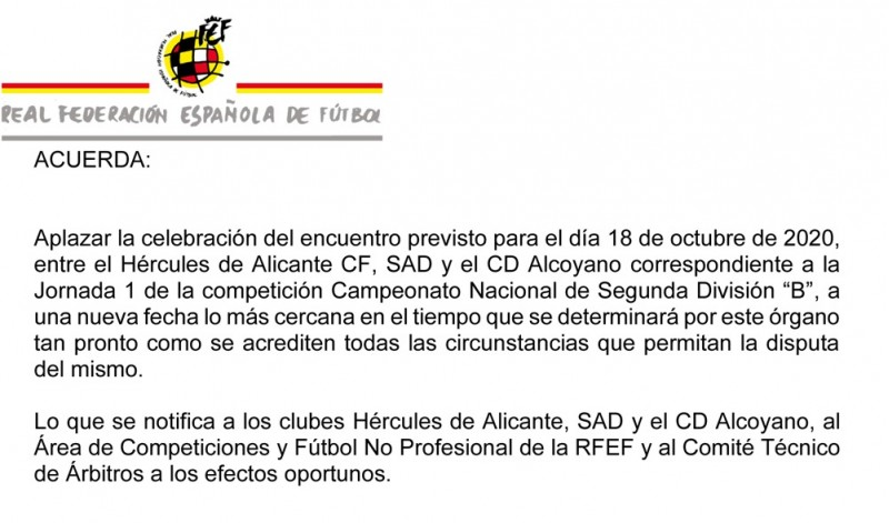 Document facilitat per l'Alcoyano