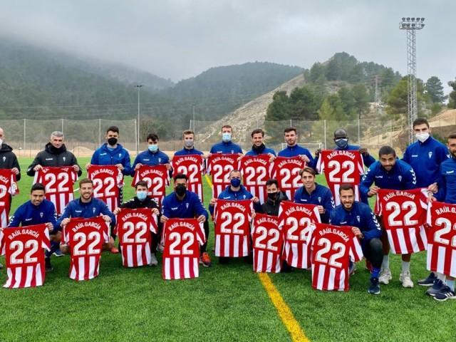 La plantilla del Deportivo posant amb less amarretes