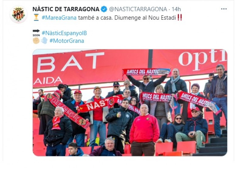 El Twitter del Nàstic