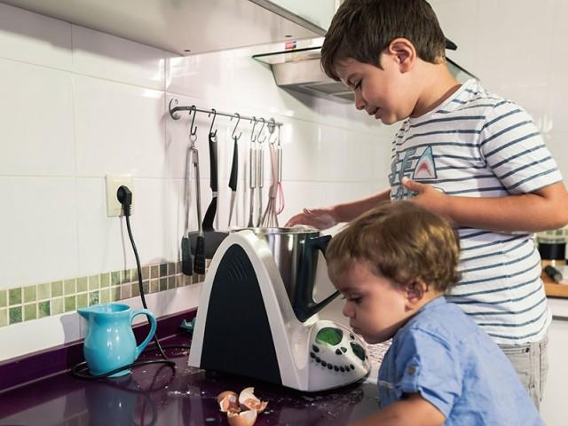 Cocinar en família y con robots