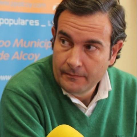 Fernando Pastor durant la seua època de regidor a l'Ajuntament d'Alcoi.