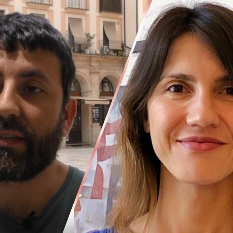 La portaveu de Guanyar Sandra Obiol i el regidor Pablo González