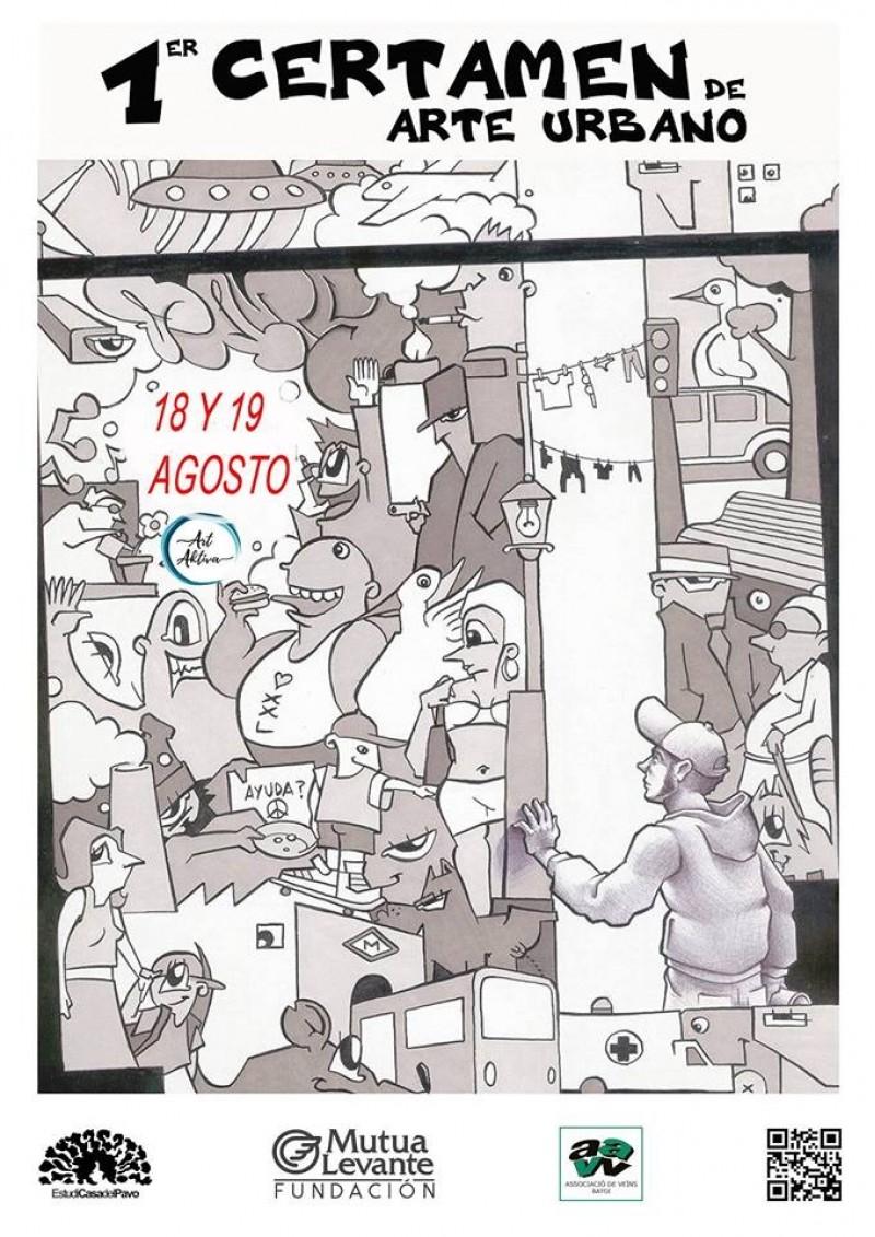 Cartell de la primera edició del certamen d'Art Urbà a Batoi