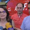 Mònica Oltra, Fran Quesada i Toni Francés visitant les instalacions d'ACIF Alcoi/AM