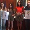 Mariona Carbonell, Bibiana Alcolea, Mireia Estepa i Hipòlit Borrás presenten la campanya