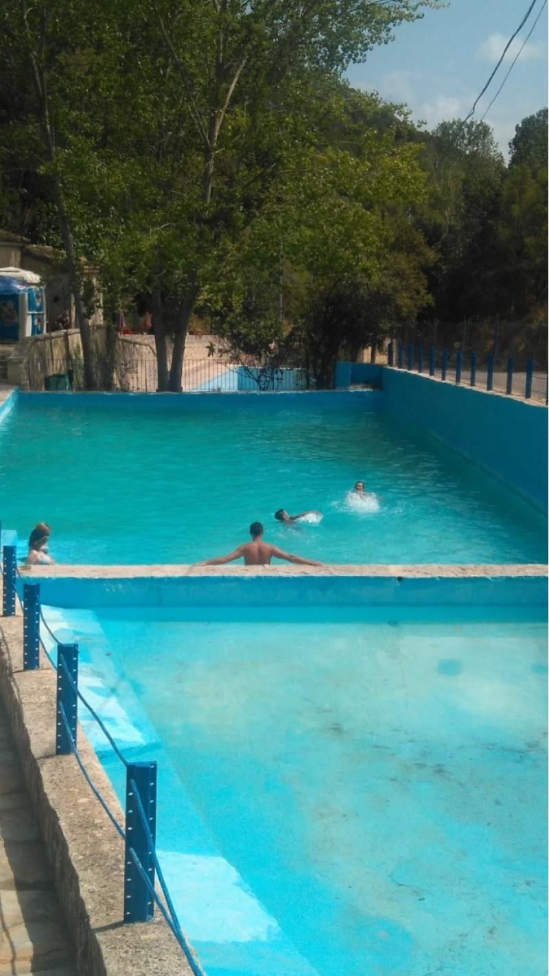 Una imatge de la piscina, aquest diumenge / Foto de Jesús Lara