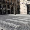 Ja comencen les obres d'accessibilitat dels passos de vianants de la Plaça d'Espanya