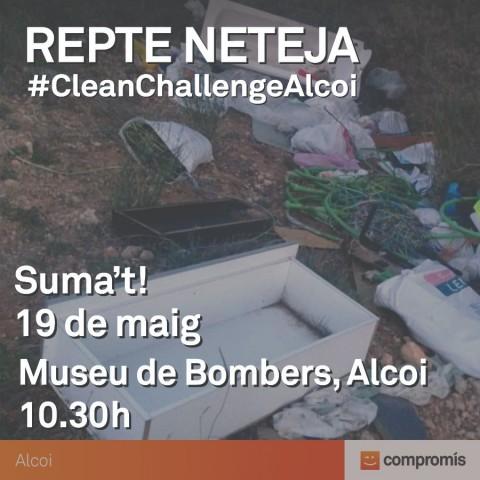 Compromís Alcoi fa una crida a la ciutadania i entitats socials preocupades pel medi ambient i convoca per a este diumenge un CleanChallenge