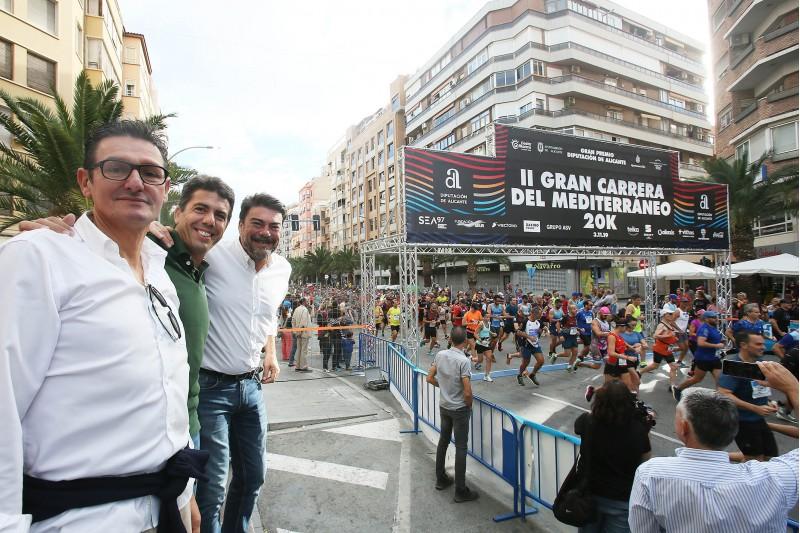 El president de la Diputació, Carlos Mazón i l'alcalde d'Alacant, Luis Barcala
