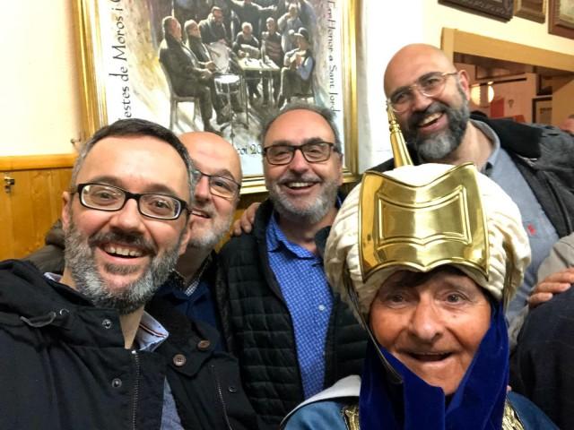 Pep, Jordi, Carlos, el Gloriero de la Penya i un servidor....