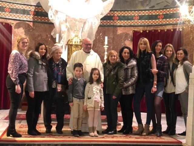 Ofrena floral de les favorites dels càrrecs 2020 a la Mare de Déu dels Lliris i Sant Jordi