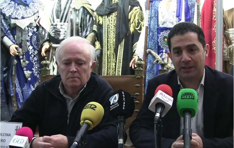 Alcalde i president de l'Associació de Sant Jordi van comparéixer per anunciar la suspensió de les Festes 2020.
