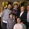 Els 5 membres de l'equip, acompanyats per l'alcalde d'Alcoi, el president de l'ASJ, i Sant Jordiet 2019.