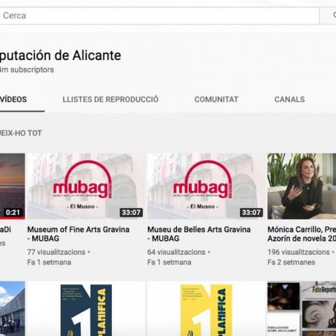 La Diputació d'Alacant ofereix 60 hores de contingut audiovisual gratuït per a suportar el confinament