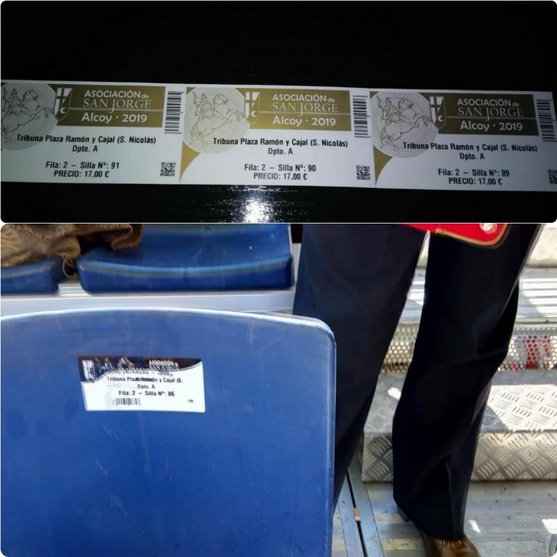 La fila 2 de la tribuna arriba al 86, però els tiquets són per a les cadires de la 89-91