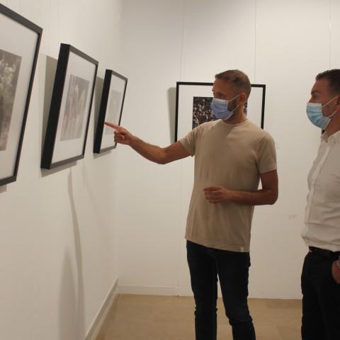 Àlex Borrell i Pablo Úbeda a l'exposició.