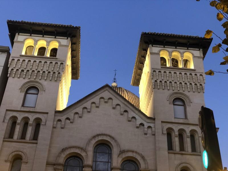 La façana de l'església