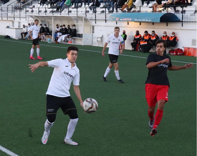 Pau Sanchis fou l'autor del gol de la victòria. Foto: Vicent Gandia