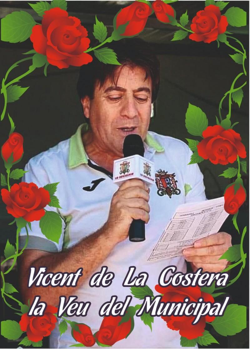 Partit amb dedicatòria especial per a Vicent de la Costera. Foto: Benigànim CF