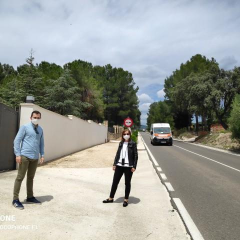 Els regidors Paco Penadés i Mercedes Pastor.