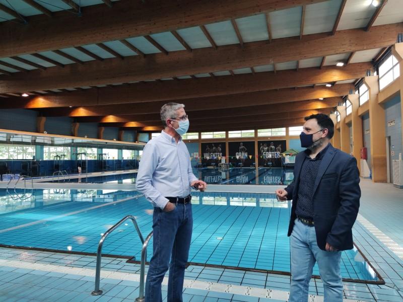Óscar Borell i Salva Escartí a la piscina coberta. Autora: Sonia Pla