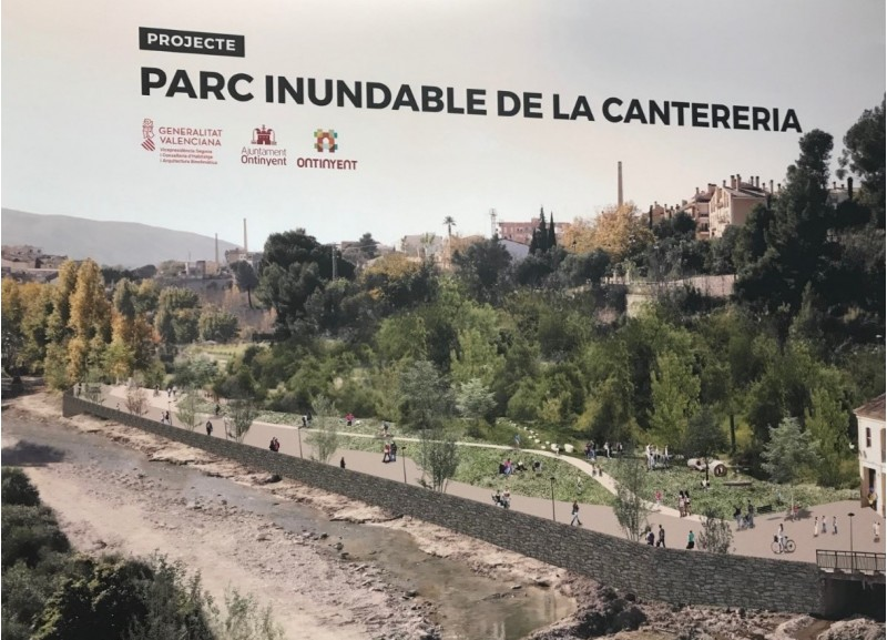 Imatge del projecte del Parc Inundable de la Cantereria