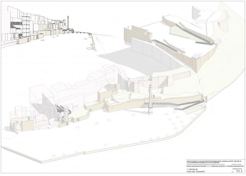Una imatge del projecte sobre este indret històric de la ciutat