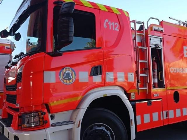 Una dotació de bombers es va mobilitzar fins al lloc dels fets.