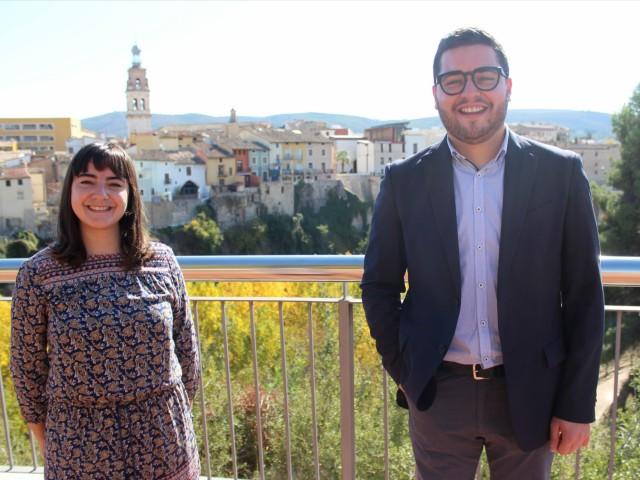 Els regidors de Compromís Ontinyent, Paloma Alberola i Nico Calabuig.