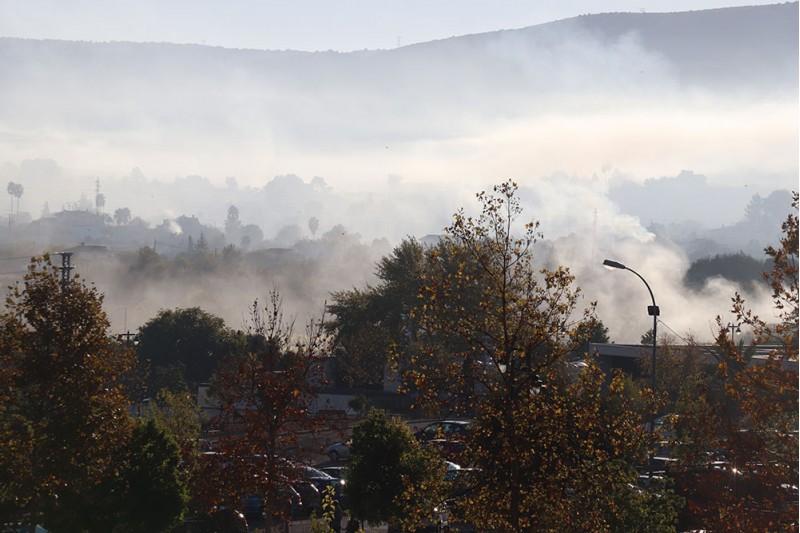Ontinyent, en un dia de cremes.  Foto: Vicent Gandia