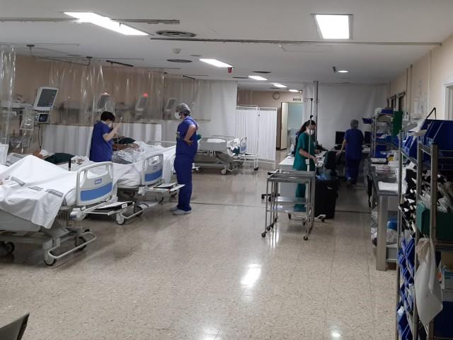 Unitat post anestèsia a l'Hospital de Xàtiva.