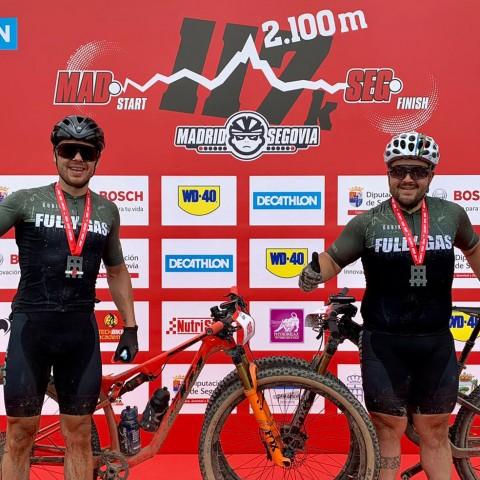 Javi Barberà i Víctor Torró van completar els 117 quilòmetres en 6 hores i 19 minuts.