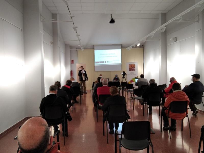 La xerrada ha tingut lloc a la sala Joan de Joanes de Bocairent. | Foto: IEVA
