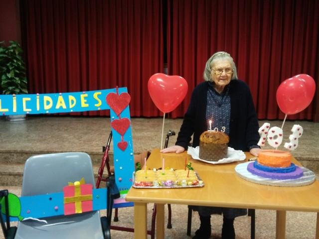Catalina Martínez celebra els seus 103 anys
