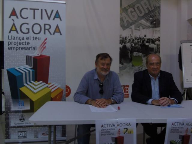 Presentació d'Activa Àgora amb el regidor Manolo Gomicia i el president del CEEI, Jesús Casanova / AM