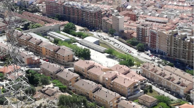 Voltants del Col·legi Horta Major, per on discorrerà el Bulevard.