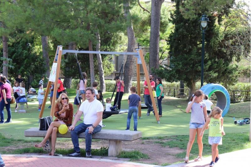 Zona de jocs infantils a Cervantes, lloc de l'incident.
