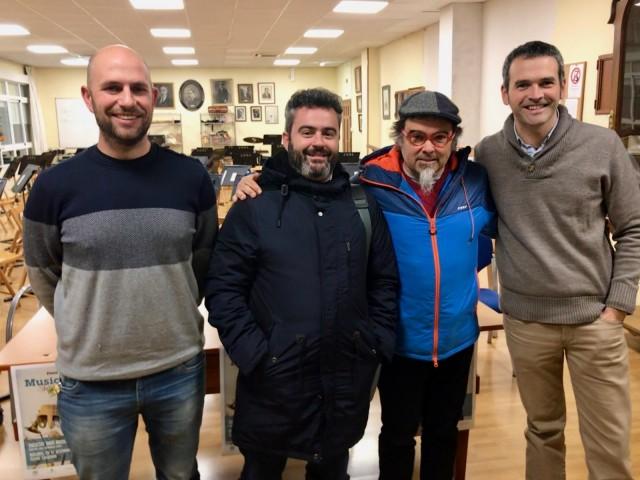 Roda de premsa celebrada a les instal·lacions de la Societat Unió Musical d'Alcoi per a presentar el concert.