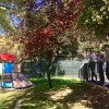 L'alcalde Toni Francés i el regidor Belda en plena visita a una de les escoletes municipals