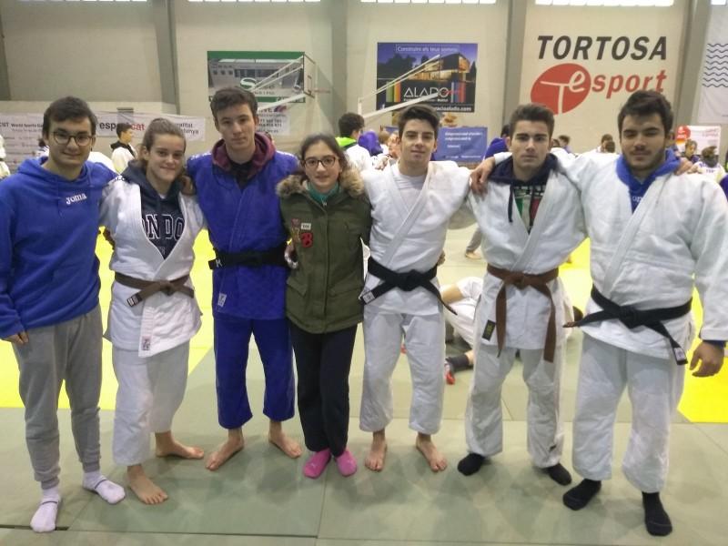 El Judo Club Alcoi durant la Copa d'Espanya a la ciutat de Tortosa.