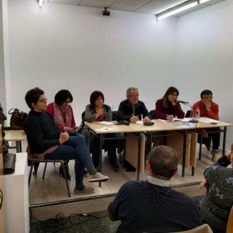 Assamblea oberta celebrada fa uns mesos per Guanyar Alcoi en el Club Amics de la UNESCO.